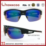 FONHCOO Free Sample Brand Men Designe Motor Sport Plastic Blue Sky Sunglasses