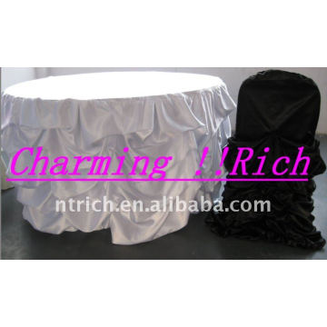 Gorgeous Ruffled Satin Table Cloth