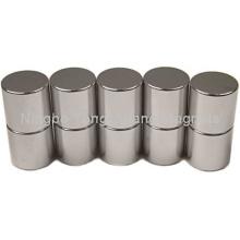 Imanes de cilindro con recubrimiento de níquel