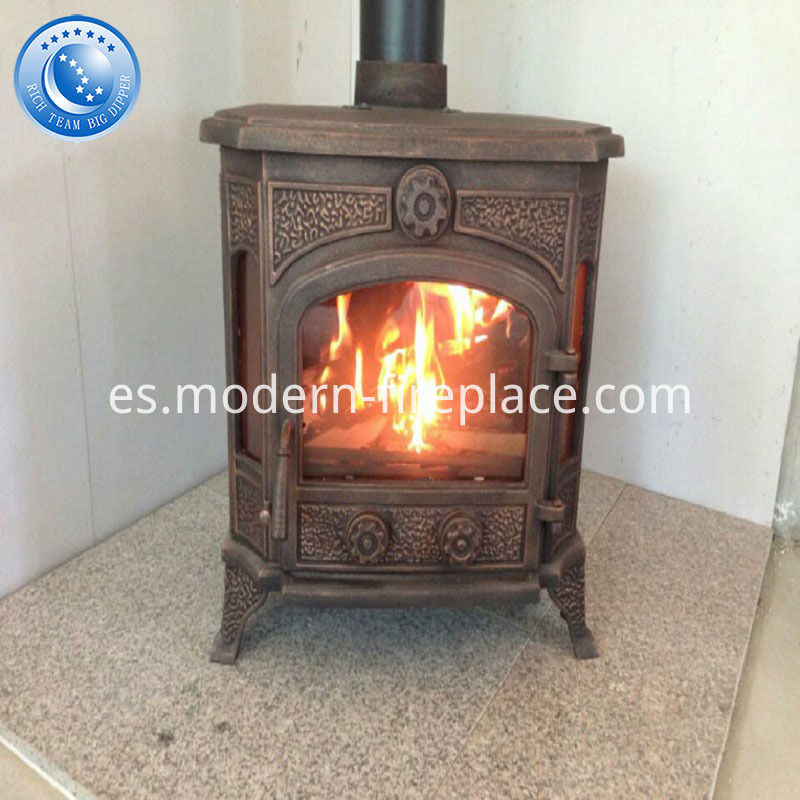 Cast Iron Wood Burning Stoves Wooden Case