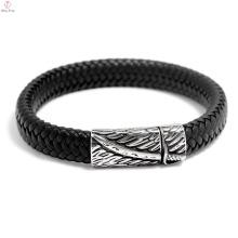 2018 Mais novo Gravável Faux Leather Men Bracelet