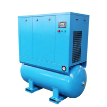 APCOM 15HP 11KW Air compressor Combined With Dryer And Receiver Tank Screw Compressor Air 500L