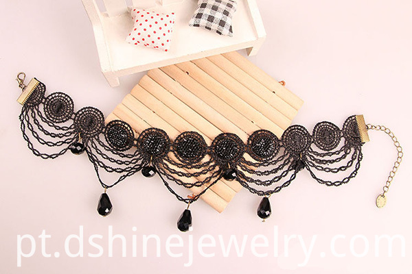 Gothic Black Victorian Lace Choker Necklace