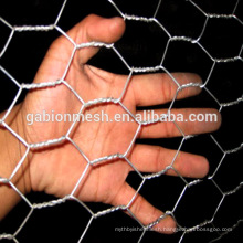 Hexagonal wire netting for stone wall