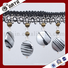 black and white round and ellipse beads Fringe for Curtain decoration and lamp