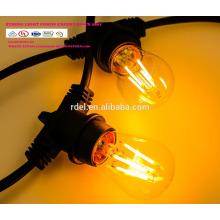 Сл-50 Водонепроницаемый 15м 15 розеток освещения строки товарного сорта Сид e26 Лампа E27 праздник светодиодные строки свет