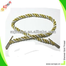 Gold and silver Metallic twisted cord for bag