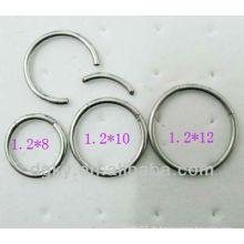 Art und Weise Kühler Edelstahl BCR Ring, Nasenring, Ohr piercing Schmucksachen