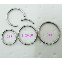 fashion Cool stainless steel BCR ring,nose ring,ear piercing jewelry