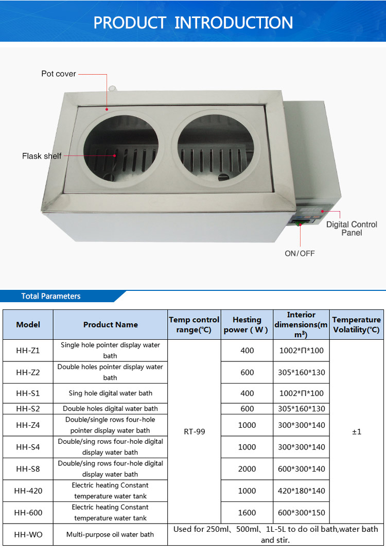 Electric Heating Medical Digital Thermostat Water Bath