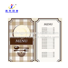 Taille adaptée aux besoins du client! Liste de menu de feuille de données d'impression d'affiche colorée de mur