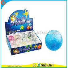 Игрушка 65мм горячий продавать детский светодиодный мигающий бисер и блеск прыгающий бал