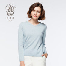 Kvinnors Cashmere V Neck Sweater