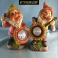 2 Asth Polyresin Dwarf avec jardin solaire Garden Gnome Decoration