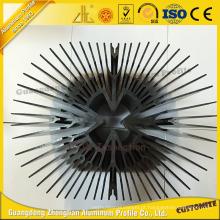 Perfil de alumínio personalizado da extrusão do dissipador de calor