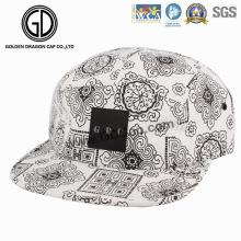 2016 moda chapéu de tela de impressão campista Snapback Cap com logotipo