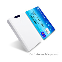 Neues Produkt 4000mAh Namecard Größe Mobile Portable Power Bank