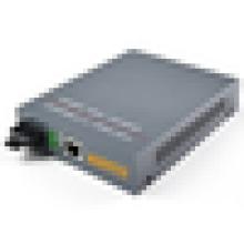 10/100 / 1000M 1310 / 1550nm SM Simplex WDM convertisseur de fibre optique Gigabit bidirectionnel Gigabit à RJ45