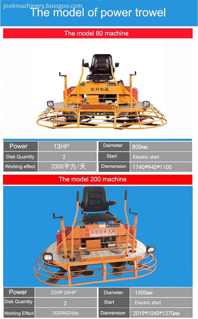 Ride on Power Float Trowel Machine