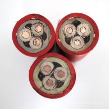 6 / 10kV Metalic blindado de borracha fio elétrico isolado cabo de alimentação de mineração