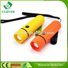 High quality and brightness powerful LED hand crank dynamo flashlight