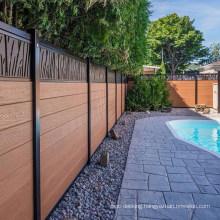 Outdoor Garden Home PVC Decoration Design UV Resistance Waterproof WPC Aluminum Accessories Post Fence Composite Wood Fencing