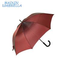 Côtes entières de fibre de verre rayonnant tissu pongé brillant Coussin de sport élevé de qualité personnalisées logo rouge grand parapluie droit non brisé