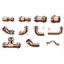 Accesorios de presión de cobre para sistemas de agua potable