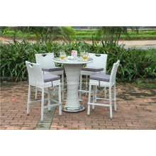 Rattan-Garten-Weidenstab-Tabellen-Satz im Freien