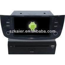 Android System lecteur dvd de voiture pour Fiat Linea avec GPS, Bluetooth, 3G, ipod, jeux, double zone, contrôle du volant