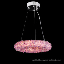 luxury natural crystal chandelier lighting chrome chandeliers pendant lights for home
