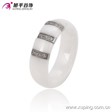 Fashion Women Elegant Round Stainless Steel Jewelry Ceramic Finger Ring -13744