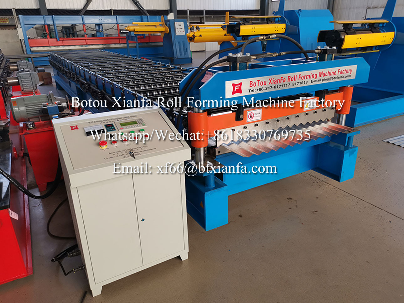 aluminium roof forming machine