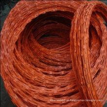 Arame farpado (menor preço) com galvanizado e revestido de PVC