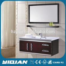 304 SS Cabinet Ceramic Basin Sink Wall Hanging Laudry Cabinet en acier inoxydable pour salle de bain