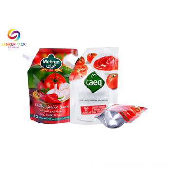 ECO Friendly Doypack Reusable Spout Pouch Untuk Cairan