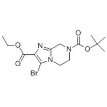 7-tert-butyl 2-ethyl 3-bromo-5,6-dihydroimidazo[1,2-a]pyrazine-2,7(8H)-dicarboxylate  CAS 1000576-75-9