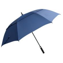 Paraguas de golf con protector solar de doble barra recta larga promocional