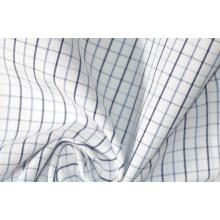 Синий/темно-тонкий проверяет, окрашенная пряжа, ткани рубашек