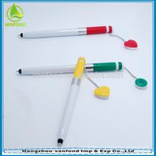 Novos produtos plástico bola caneta com ímã para promoção de venda quente