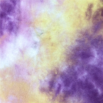 T/R/SP Tie Dyed Brushed Hacci knit fabric