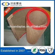 Hot Sale Custom size Heavy coating PTFE Fiberglass Open Mesh Conveyor Belt PTFE mesh belt