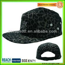 Fashion leopard pattern 5 panel hats NC0014