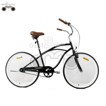 26inch low quantity Men preto Beach Cruiser bicicleta