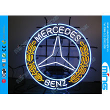Window Color Glass Mercedes Car Neon Sign Lamp With Screened Panel