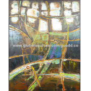 100% Handmade canvas abstract oil painting, new creation, suit for home and hotel decor