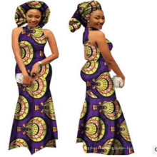 ethnic slim fit flora print fashion clothing cotton wax women long fish tail Dashiki dresses African ball evening gowns