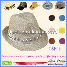 El sombrero de paja de papel decorativo 100% de los diamantes con estilo más baratos baratos, LSP11