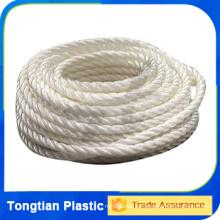 Cuerda de polipropileno (pp) de 3/4 hilos de 7mm de nylon para la pesca