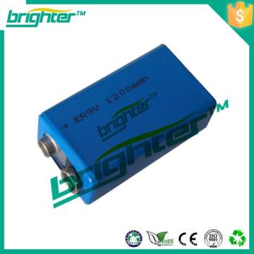 Hot Sale CR 9v 1200mah lithium battery for smoke detector